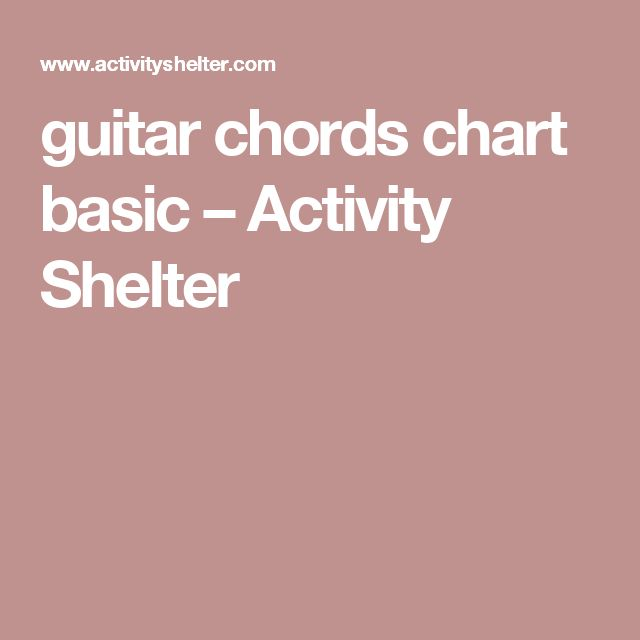 guitar chords chart basic – Activity Shelter