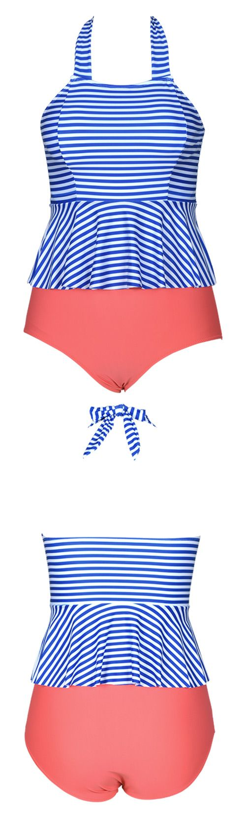 Simply fun and simply stylish, this Bikini comes in an array of colors to help you mix and match with any accessories. High-waisted fit gives you comfy experience. Try this halter bathing suit at Cupshe.com
