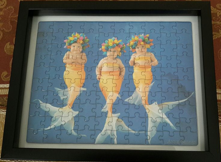 Completed Anne Geddes puzzle 4 of 5