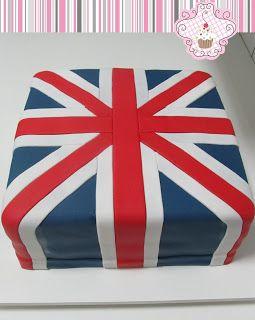 Maria de Açúcar: Bolo Inglaterra (para festa do One Direction)