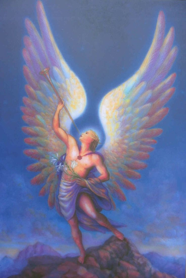Archangel Gabriel in living colors for healing~
