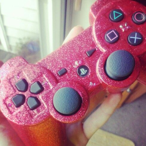 Bling out your controller!  I just disassembled my PS3 controller, grabbed some nail polish (2 coats pink, 1 coat pink glitter) and clear coat spray paint, embellished with a few nail art jewels I had lying around and, *voila*. I have a hot pink glittery controller.   Have fun crafting!!!