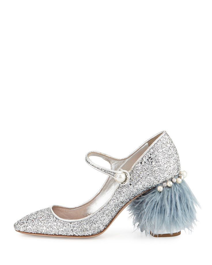 Miu Miu mary janes  oooohh fluffy heel (!) awesome