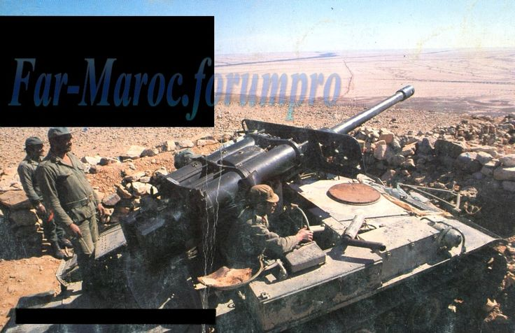 Moroccan M56 Scorpions which originally designed as a platform for air transportable tank support, this non armored vehicle that is the US equivalent of the equally famous Soviet ASU-85.
