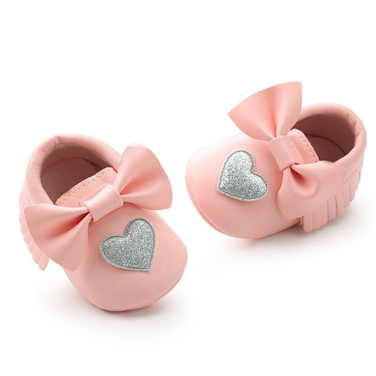 Baby girl shoes, Pink moccasins