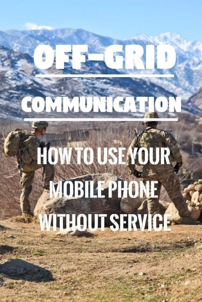 Off Grid Communication How To Communicate Without Phone Or Internet In 2020 Sprint Cell Phone Deals Off The Grid Cell Phone Service