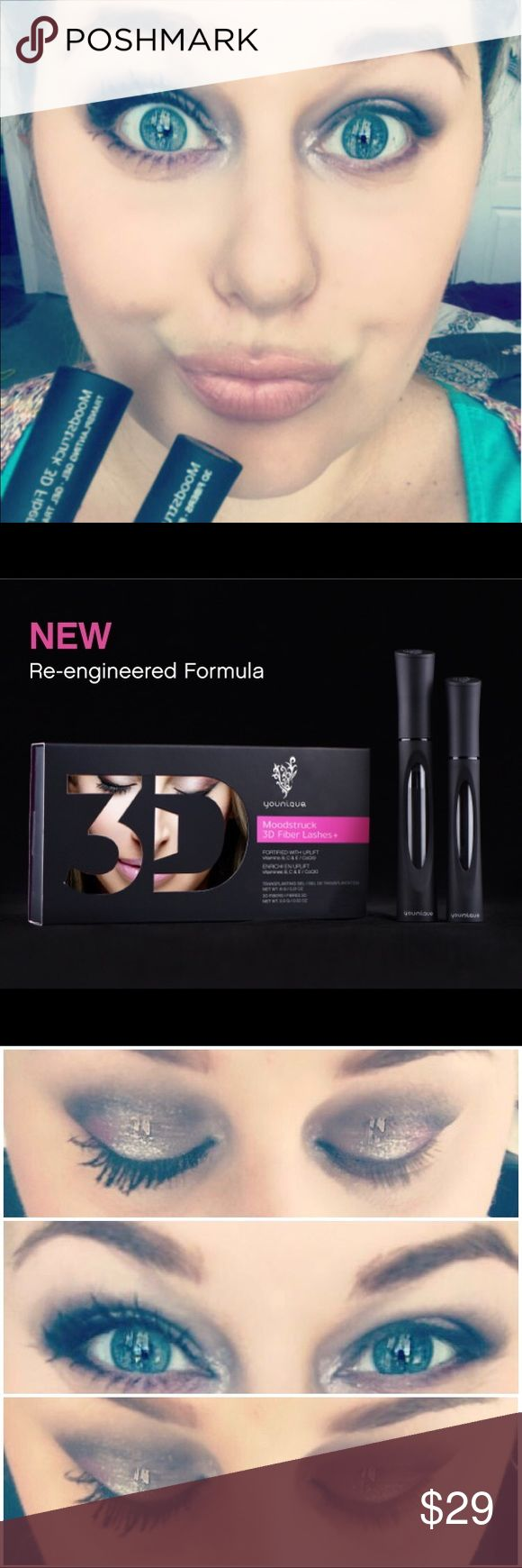 Younique 3D FiberLash+ Mascara Moodstruck 3D Fiber Lashes+ Increase your average lash volume by up to 300%! With a new brush and a fresh look, our proprietary, hypoallergenic patent-pending formula brings life to tired lashes. Its two international patents pending leaves little wonder about why women are talking about which lash enhancer they use. FreshFabFace.com Makeup Mascara