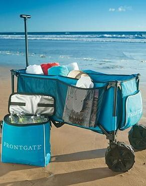 Take all of your relaxing summertime necessities with you easily with the  Foldable Beach Wagon; rugged and easily storable for maximum functionality and convenience.