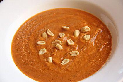 Westafrikanische Erdnuss-Suppe