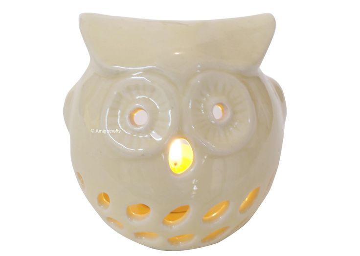 Cool White Owl simple and stylish Ceramic Oil Burner