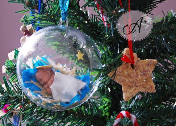 Boule de Noël bébé Jésus boule décorative par BoutiqueAlnilam