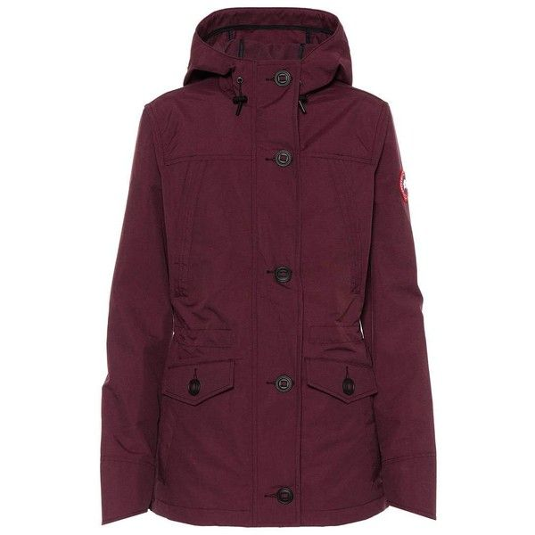 Canada Goose Reid Jacket (115.385 HUF) ❤ liked on Polyvore featuring outerwear, jackets, red, canada goose jacket, canada goose and purple jacket