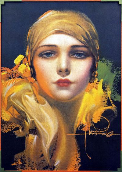 Flower of the Orient—1931—Rolf Armstrong    Thought I'd throw this on this board because I felt it was a very striking image and it is the Flower of the Orient.  :)