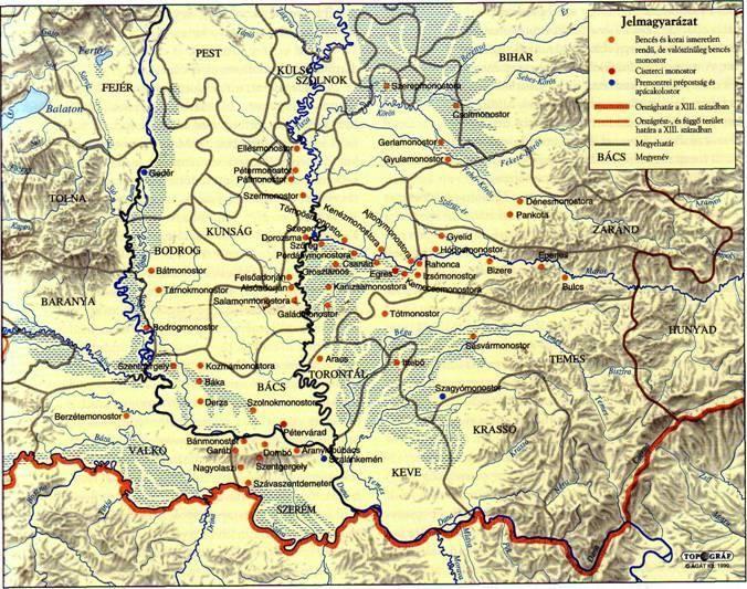 - Dél-Magyarország egyházi topográfiája a középkorban