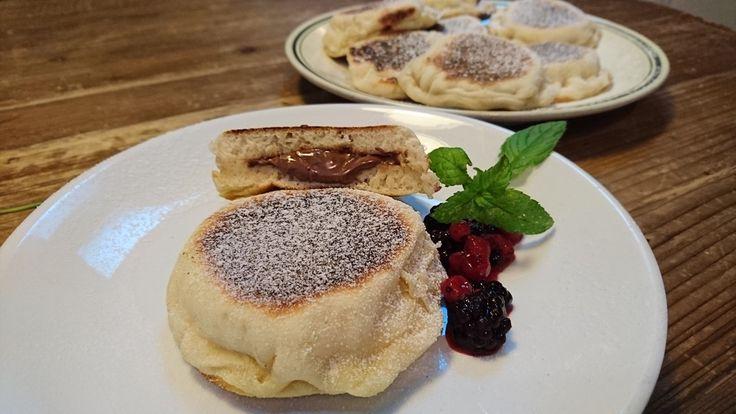 i muffin inglesi con nocciolata sono dei pani cotti alla piastra e farciti con la Rigoni per una colazione davvero gustosa ed energetica