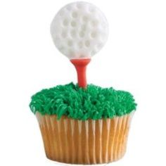 master's golf party ideas | Golf ball, tee and green cup cakes