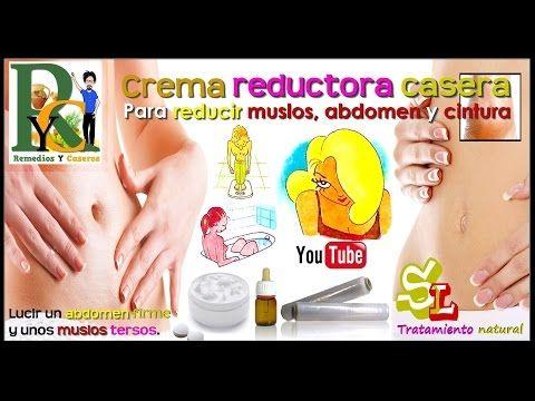 Reducir abdomen y cintura, Crema reductora casera efectiva, Recetas de cremas reductoras caseras - YouTube