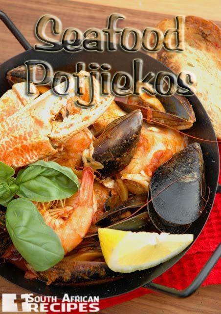 South African Recipes SEAFOOD POTJIEKOS (Nina Timm)