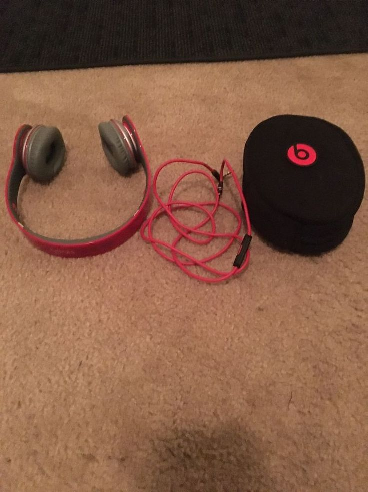 Beats by Dr. Dre Solo HD Headband Headphones - Red Special Edition Volume Contro #BeatsbyDrDre