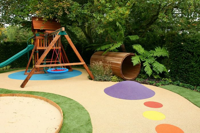 wood kids play toys in green garden design childrens garden kids playground design inspiration for spot design studio wwwspotdesignstudiocoma - Garden Design Kids