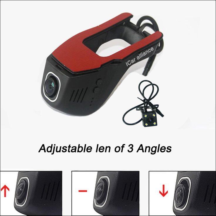 For peugeot 3008 APP control Car Wifi DVR Dual Camera Driving Video Recorder night vision Car Black Box WDR Car Dash Camera