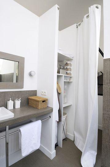des rideaux pour dlimiter la salle de bains du dressing 21 belles salles de bains - Belles Salles De Bain Photos