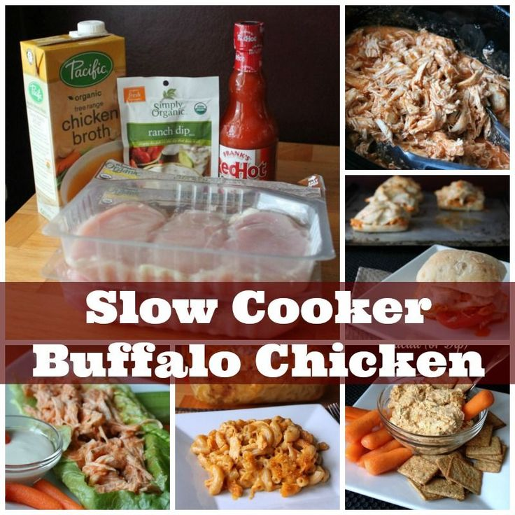 Slow Cooker Buffalo Chicken 156 calories and 4 weight watchers points plus