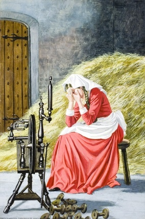 3.- The miller's daughter began to cry because she didn't have idea how convert the straw into gold
