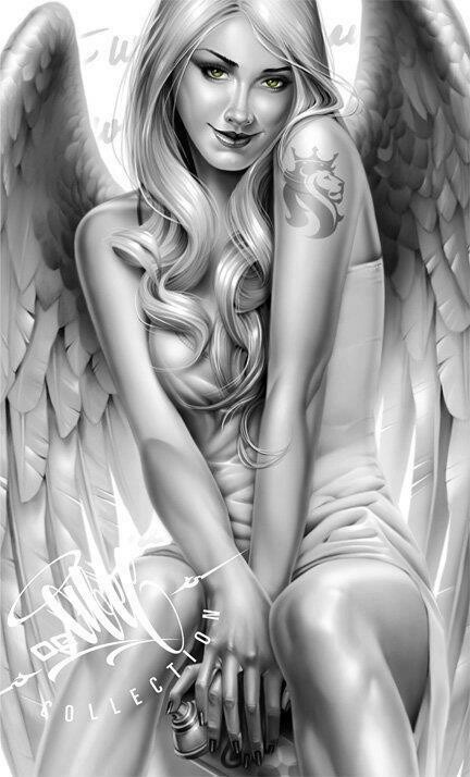 317 best angels and demons images on pinterest demons for Sexy angel tattoo