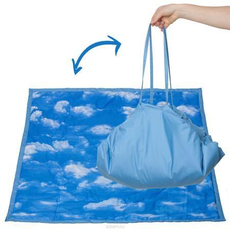 """Чудо-Чадо Переносной коврик-сумка цвет голубой облака  — 1278р.  """"Игровое место"""" для малыша, которое всегда с собой! Очень удобен для игр дома на полу или путешествий из комнаты в комнату вслед за мамой и папой, вместе с любимыми игрушками. Незаменим для походов в гости, поликлинику, спортзал… И, конечно, для выходов летом на природу!!! В сырое и холодное время года может использоваться как теплое, непромокаемое одеяло в коляску. Особенности: для дома и для улицы мягкий, теплоизолирующий…"""