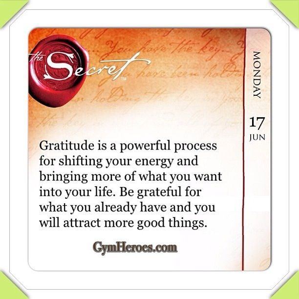 Gratitude is a powerful process for shifting your energy and bringing more of what you want into your life.  Be grateful for what you already have and you will attract more good things.