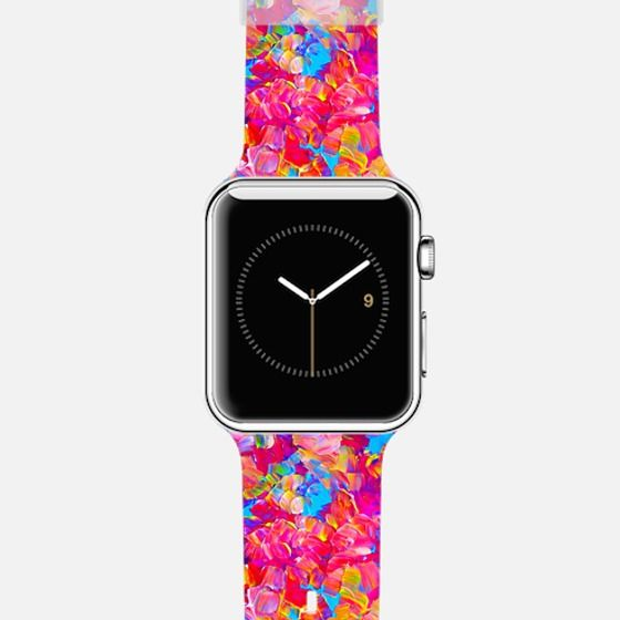 """Get $10 off using code: 5K7VFT """"Floral Fantasy"""" by Artist Julia Di Sano, Ebi Emporium on @casetify Fine Art Abstract Acrylic Textural Flowers Painting Elegant Bright Neon Hot Pink Turquoise Blue Yellow Pattern Summer Fun Garden Design Colorful Cool Apple Watch Tech Device Fashion Accessories #art #fineart #pink #girly #hotpink #floral #flowers #floralpattern #pattern #summer #painting #techdevice #tech #Apple #AppleWatch #watch #time #chic #fashion #accessories #style #stylish #modern"""