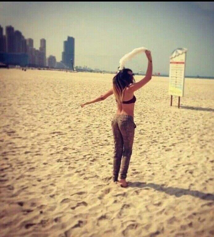 Antonia on the beach