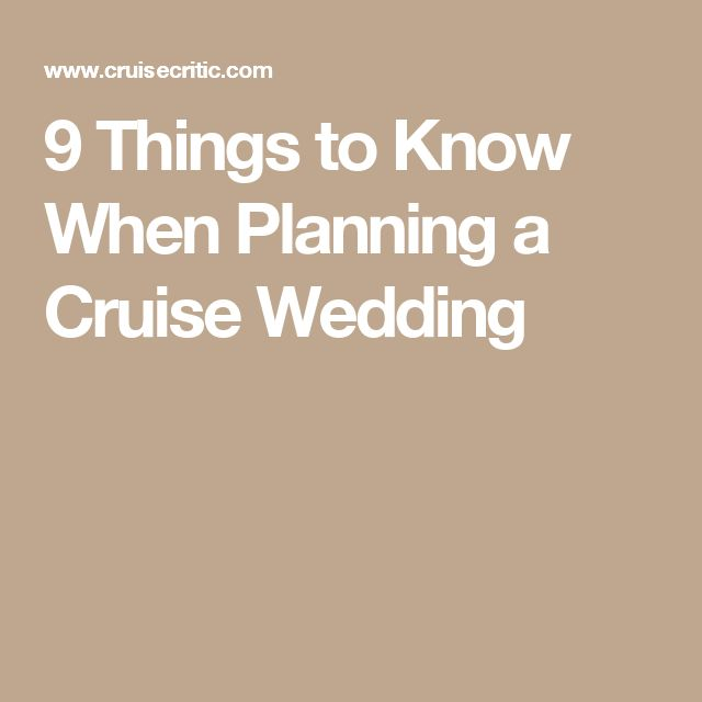 9 Things to Know When Planning a Cruise Wedding
