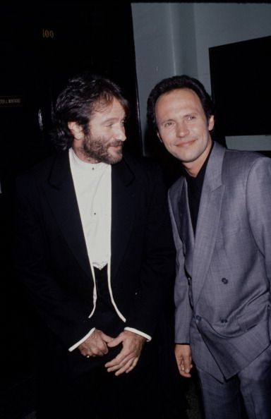 Robin Williams and Billy Crystal January 01, 1990 | Credit: Time & Life Pictures