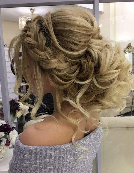 Hochsteckfrisur lange haare locken