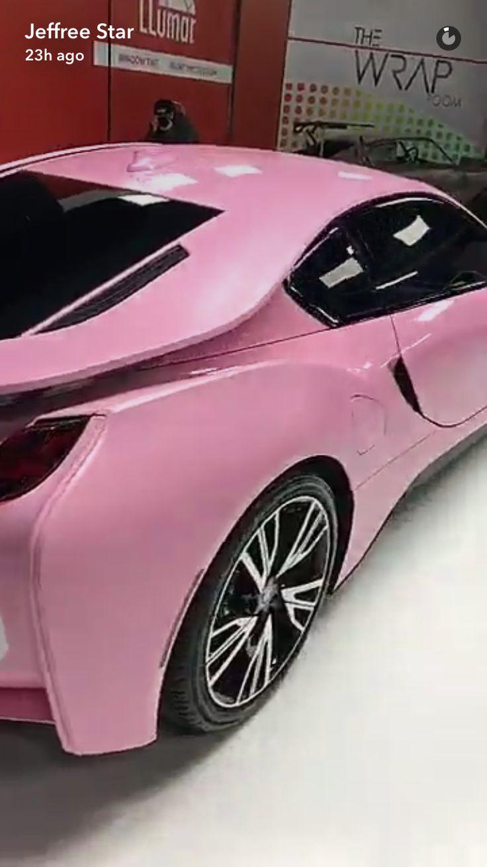 Jeffrey stars new barbie pink bmw i8
