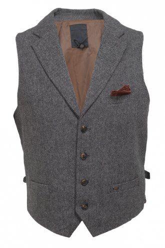Scotch & Soda Pocket Detail Waistcoat Grey/Charcoal