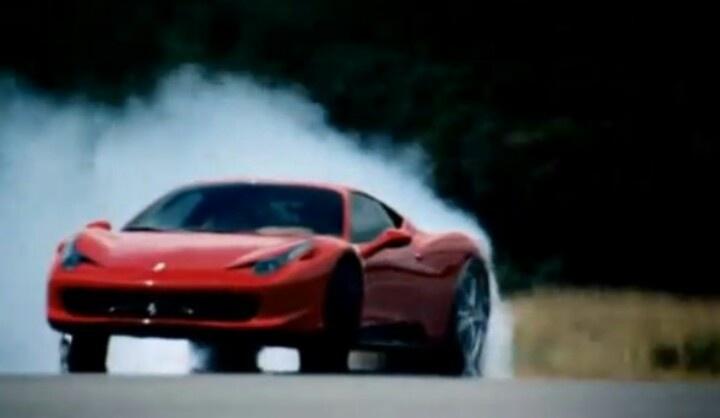ferrari 458 italia drifting hardly { i think this was the top gear