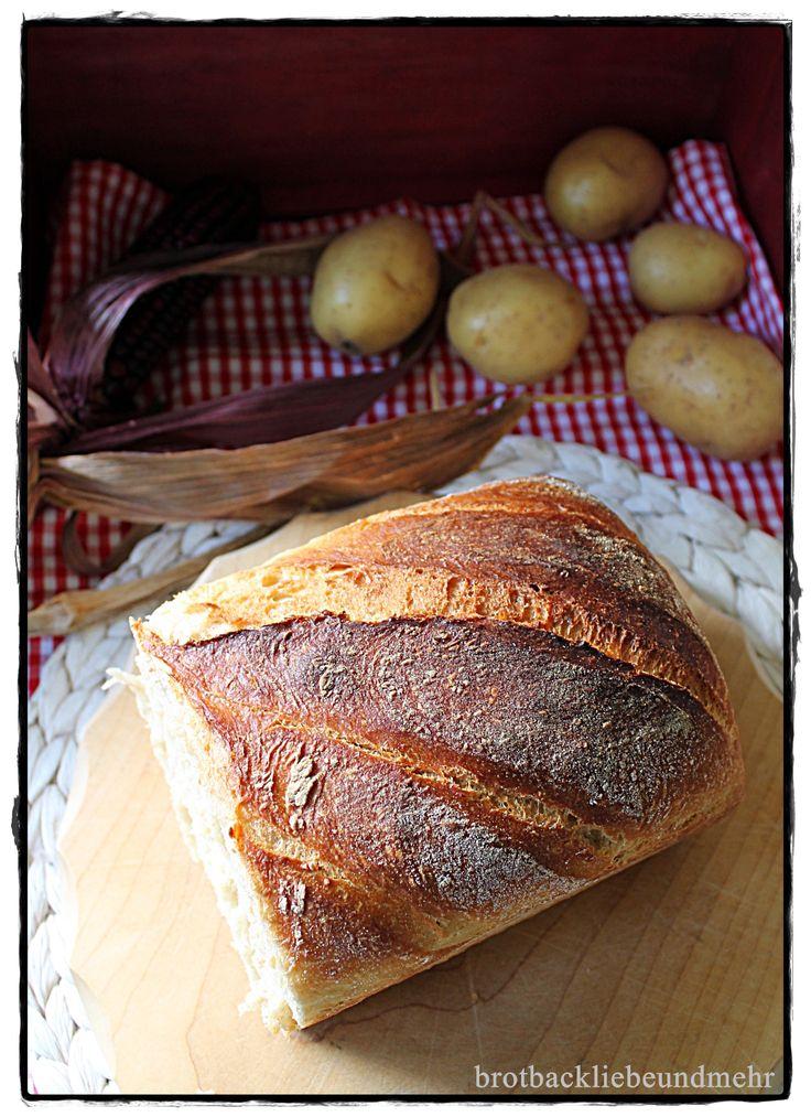 brotbackliebeundmehr - Foodblog - Kartoffel-Schmand-Brot mit Kartoffelpüree-Rest