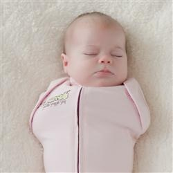 woombie i hear these are easier than swaddling and have arm holes so baby doesnt have to have her arms pinned down