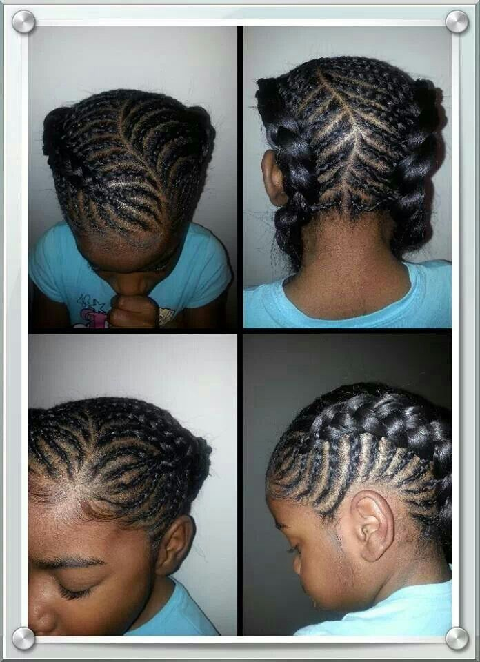 Pleasant 1000 Images About Natural Kids Dutch French Braids On Pinterest Short Hairstyles For Black Women Fulllsitofus