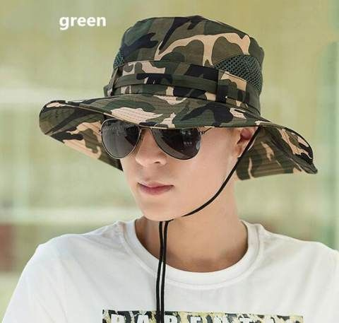Cheap Camouflage bucket hat for men UV package sun hats