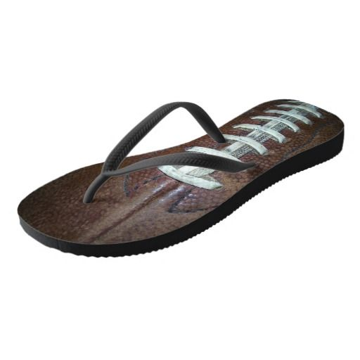 Football Stitches Flip Flops  photography art by kaps images