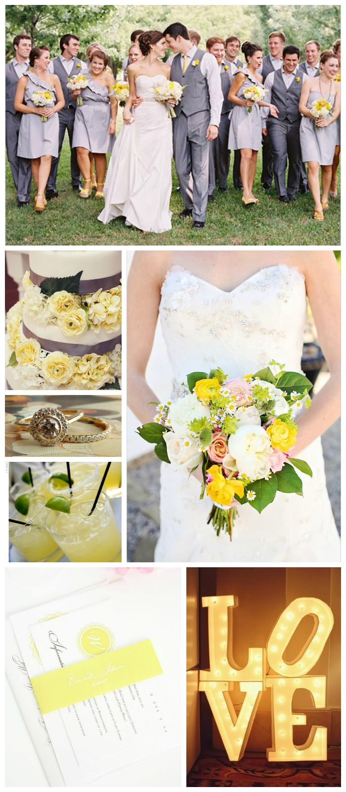 Light Yellow Wedding Inspiration