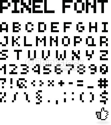 Vector Art : Pixel Font, Isolated Vector Letters, Alphabet