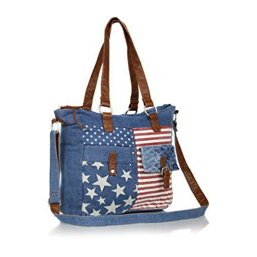 New Trending Tote Bags: Patriotic Stars and Stripes Jean Tote Bag, Cute Americana Style Denim Slouch Purse. Patriotic Stars and Stripes Jean Tote Bag, Cute Americana Style Denim Slouch Purse   Special Offer: $25.95      177 Reviews Tote adorbs. You'll look vintage-cute carrying this adorable American Flag inspired blue jean slouch purse. Faded cotton denim charmingly displays our...