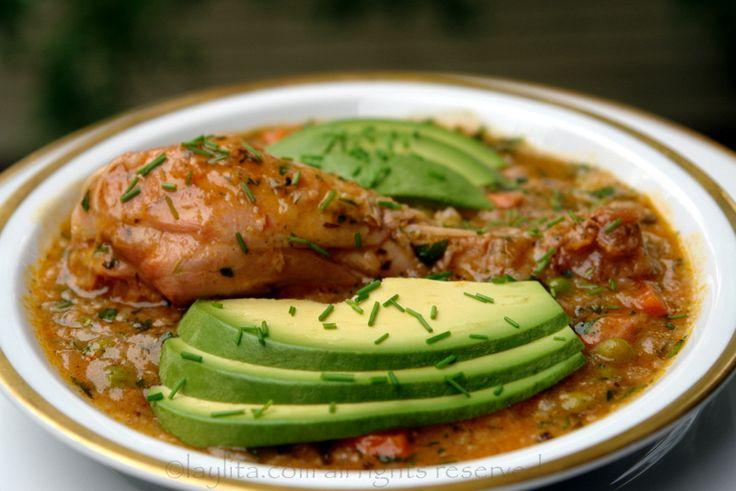 Ecuadorian chicken rice soup aguado de gallina for Achiote ecuador cuisine