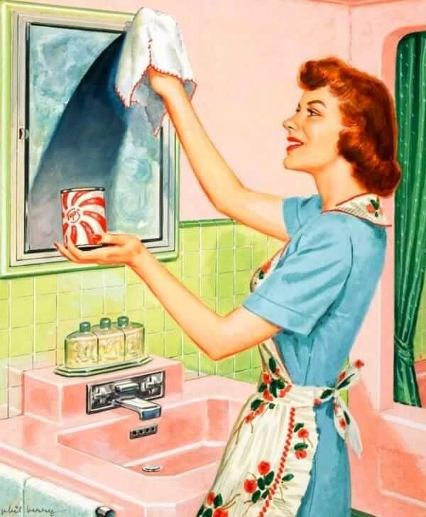 den und Eine 1950er Jahren in Hausfrau 1950er Ehe Hausarbeit