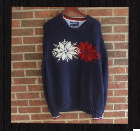 Vintage Tommy Hilfiger chunky knit sweatshirt